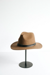 Gigi Pip Leo Felt Fedora in Brown