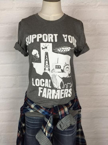 Texas Support Your Local Farmer Tee *more colors