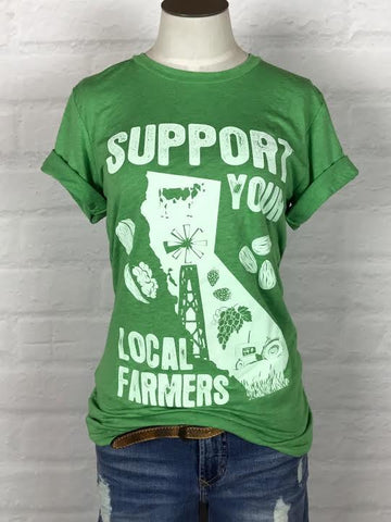 California Support Your Local Farmer Tee *more colors