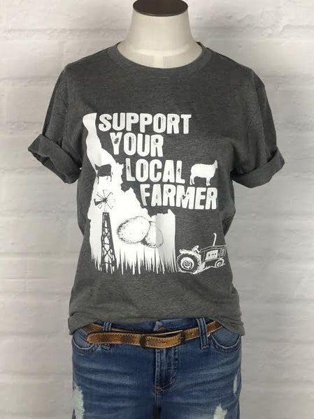 Idaho Support Your Local Farmer Tee *more colors