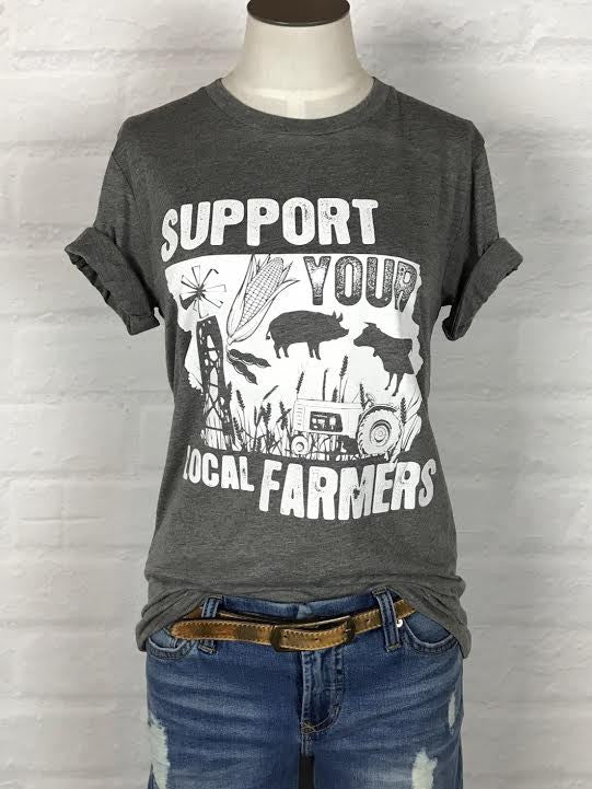 Iowa Support Your Local Farmer Tee *more colors