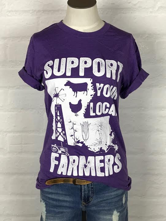Louisiana Support Your Local Farmer Tee *more colors