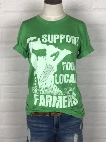 Minnesota Support Your Local Farmer Tee *more colors