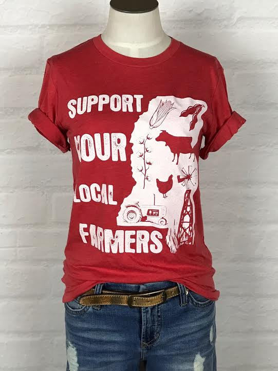 Mississippi Support Your Local Farmer Tee *more colors