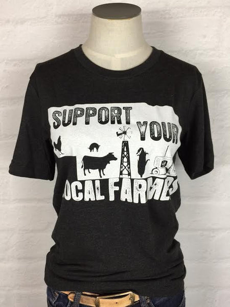Nebraska Support Your Local Farmer Tee *More Colors