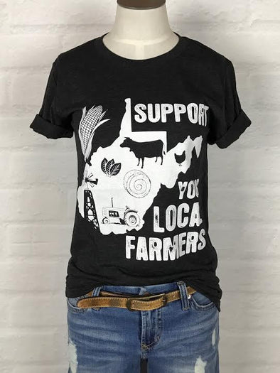 West Virginia Support Your Local Farmer Tee *more colors