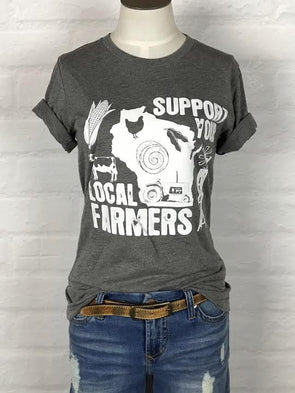 Wisconsin Support Your Local Farmer Tee *more colors