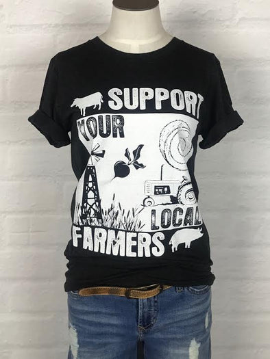 Wyoming Support Your Local Farmer Tee *more colors