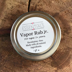 All Natural Eucalyptus-Free Vapor Rub Jr.