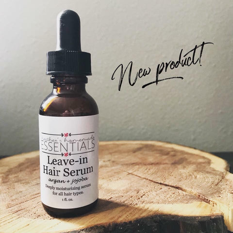 Leave In Hair Serum w/ Argan & Jojoba Oil