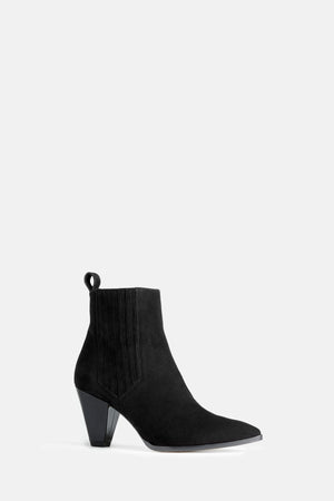 The Charlie Boot in Black Suede