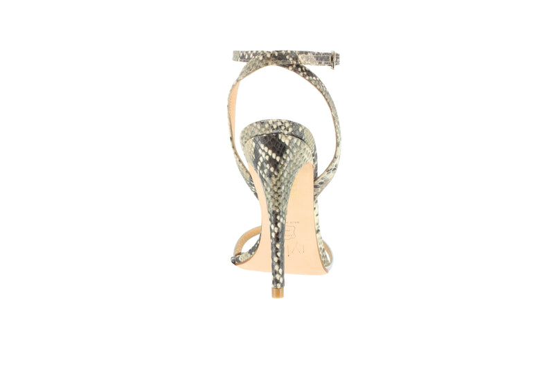 The IYLIA Collection Christy sandals in snake/silver are the most comfortable high heels.  They are 4 inch heels and they are comfy heels for work. They are the most comfortable stiletto heels.  They are designer heels, and they are the comfortable high heel sandals.