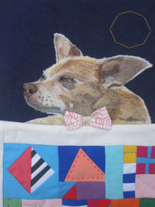My portrait of Wilfredo the dog for Lisa Congdon