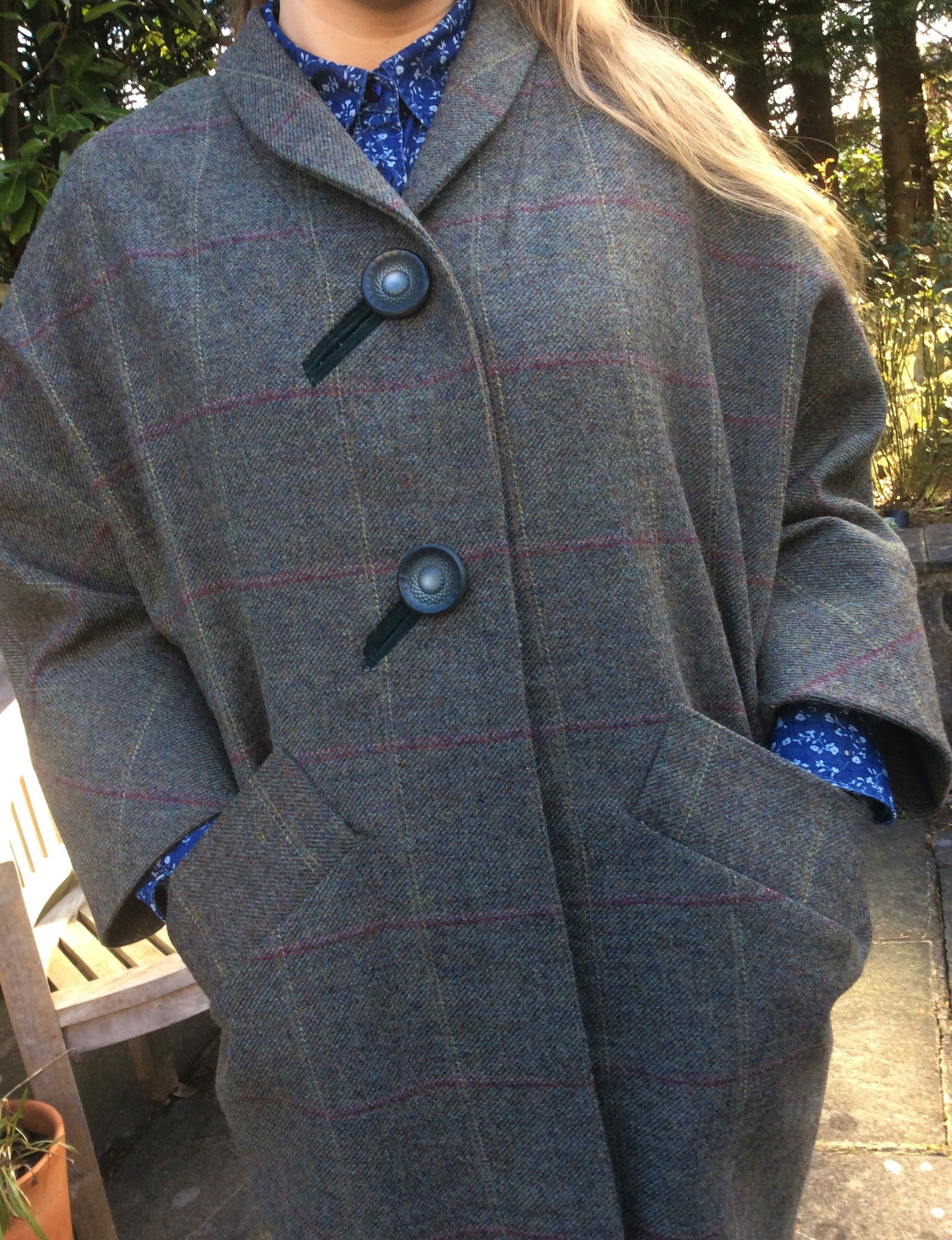 My new coat - with pockets big enough for a dead rabbit!