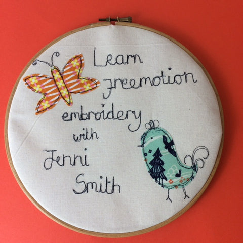 Freemotion embroidery workshop at John Lewis Leeds