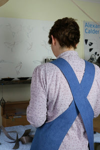 Hepworth Apron ladies sewing pattern perfect for beginners with free video tutorial included.
