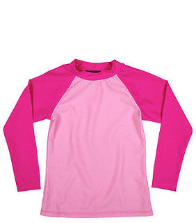 Toobydoo Long Sleeve Pink Rash Guard Surf Shirt
