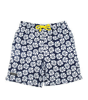 Toobydoo Navy and White Starfish Boys Swim Trunks