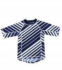 Toobydoo Rash Guard Shirt Navy Shore Stripe