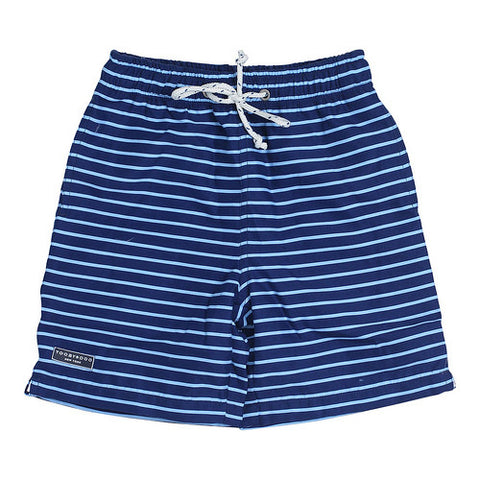 Toobydoo Blue Stripe Boys Swim Trunks