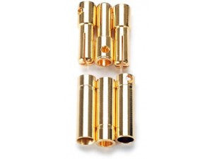 Castle 4mm Bullet Connectors (3 pr)