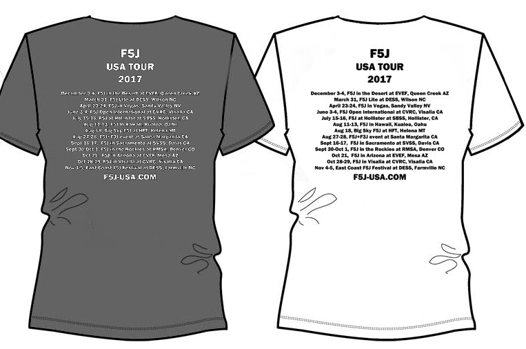 US F5J 2017 T-Shirt, White.