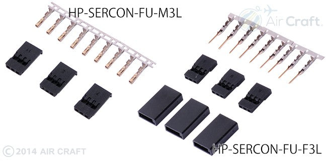 Hyperion Male Servo Connector (JR) 3 pieces