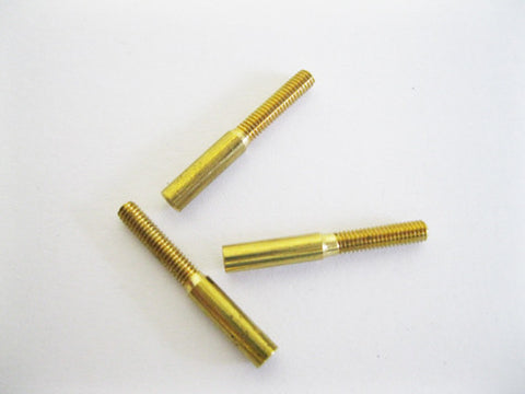 Threaded Coupler, economy, 1mm receptacle diameter, 2mm thread