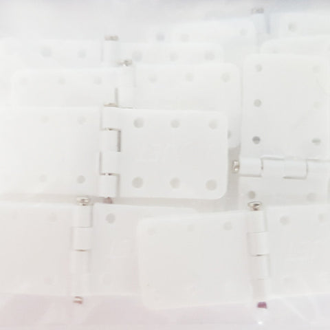 Pinned hinge 11x28 mm, White