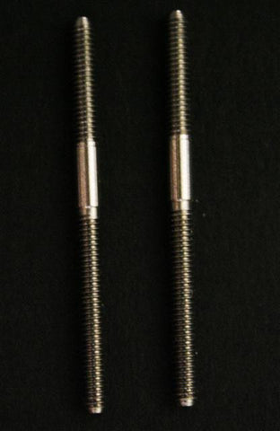 2mm Control Rods. 303 Grade Stainless Steel 30mm