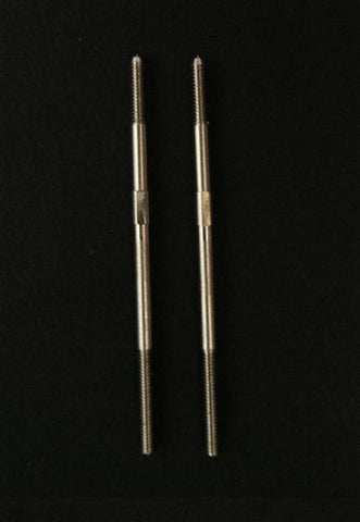 2mm Control Rods. 303 Grade Stainless Steel 45mm