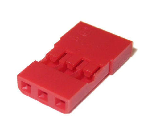Red Universal Servo Connector Housings 10-pack