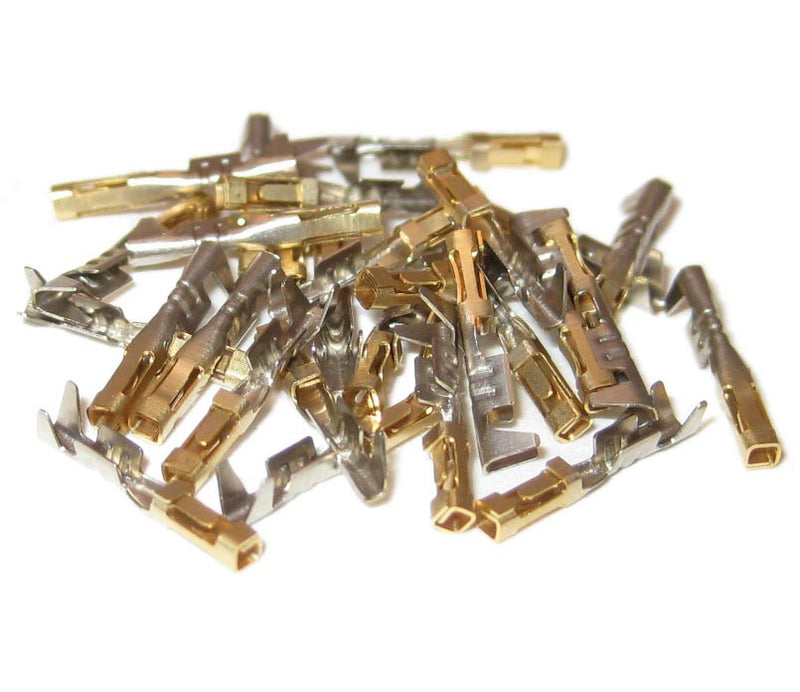 Gold Female Terminals, 30 pack