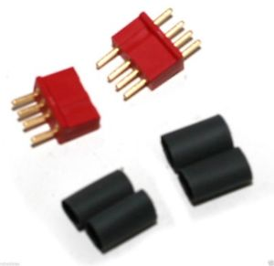 Deans 4 Pin connectors, Red