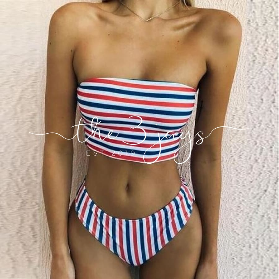 Popular Women Bikini Set Swimwear Push-Up Padded L / A