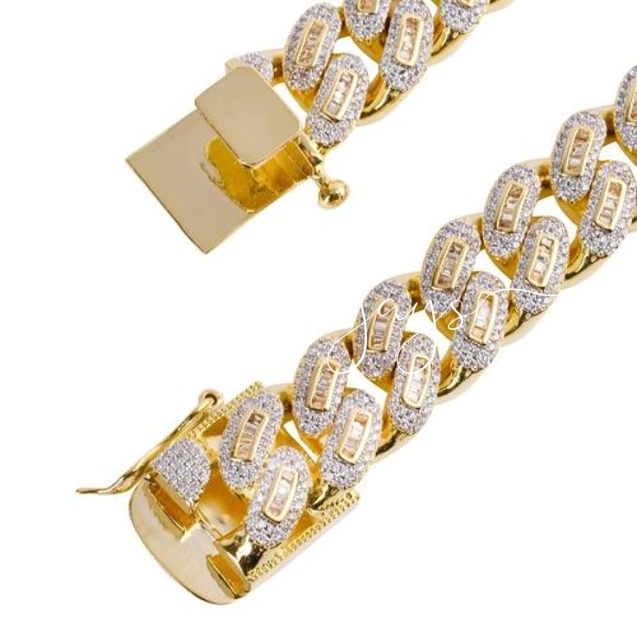Rainmaker 12 Mm Baguette Cuban | 961581 20 Inch - Gold Necklaces