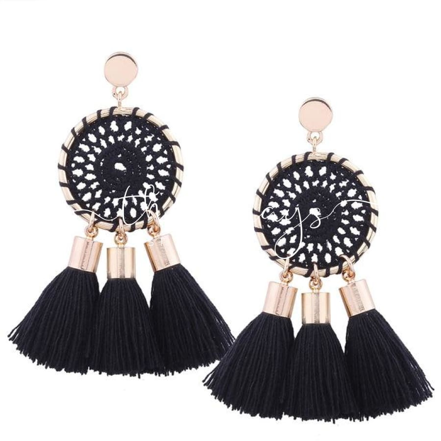 Shining Long Tassel Clear Crystal Earrings