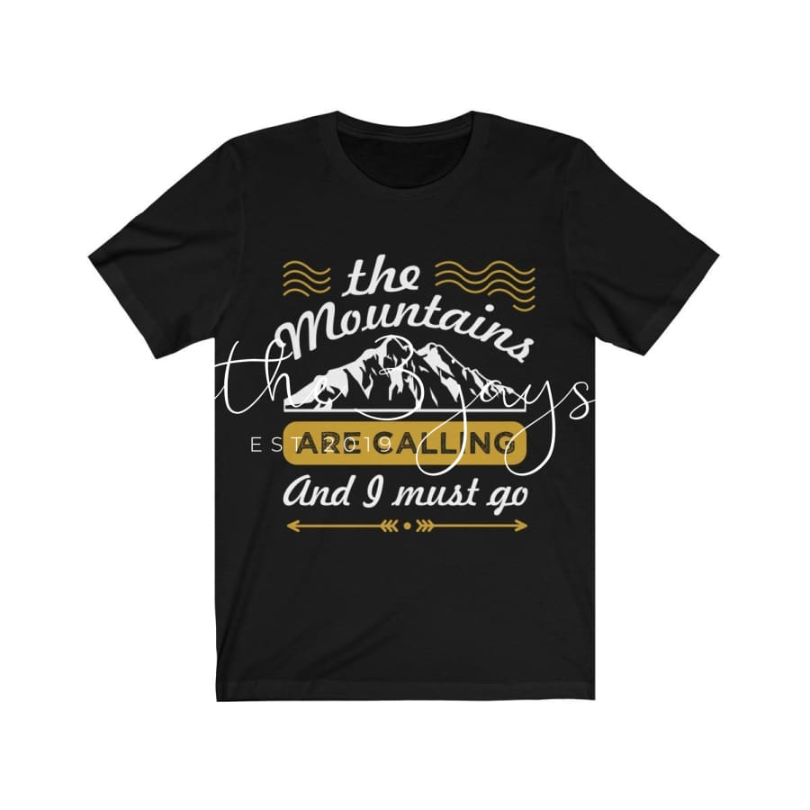 The Mountains Are Calling Short Sleeve Tee T-Shirt