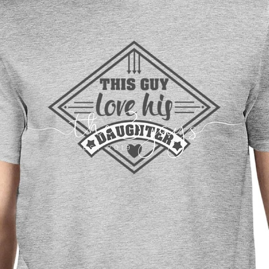 This Guy Love His Daughter Mens Grey Unique T-Shirt