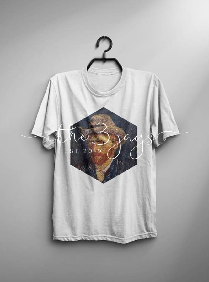 Van Gogh Shirt Self-Portrait Tshirt Male Fashion T-Shirt