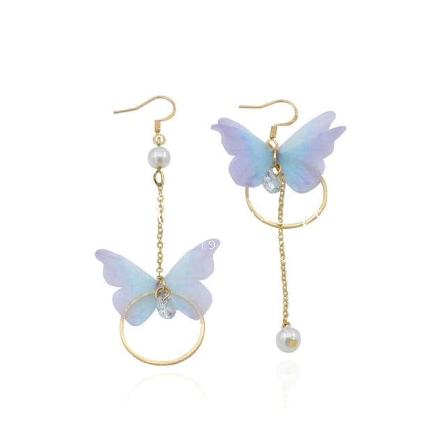 Women S Butterfly Pendant Ear Earrings