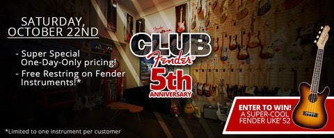 Club Fender 5th Anniversary Fan Appreciation Day!