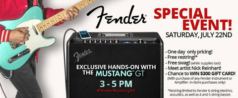 Fender Special Event! Saturday, July 22nd