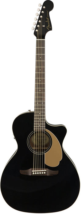Fender California Series Newporter Player Acoustic Electric Guitar Jetty Black