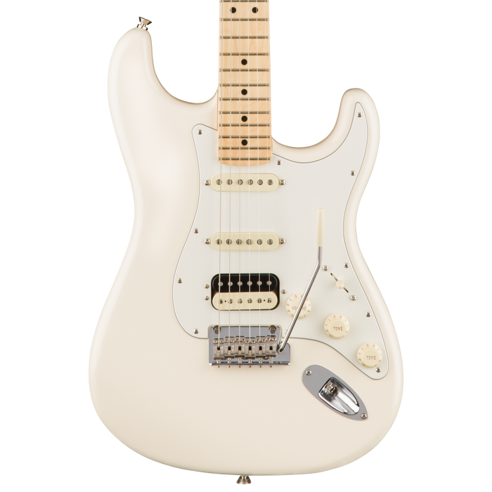 Fender American Pro Stratocaster HSS ShawBucker Maple Fingerboard Olympic White Electric Guitar With Case
