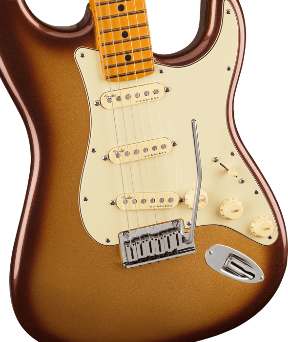 Fender American Ultra Stratocaster Maple Fingerboard Mocha Burst Electric Guitar With Case