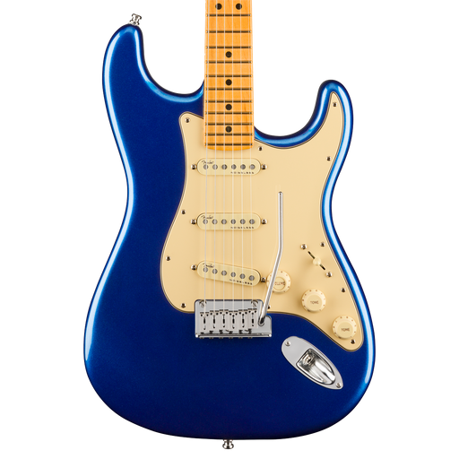 Fender American Ultra Stratocaster Maple Fingerboard Cobra Blue Electric Guitar With Case