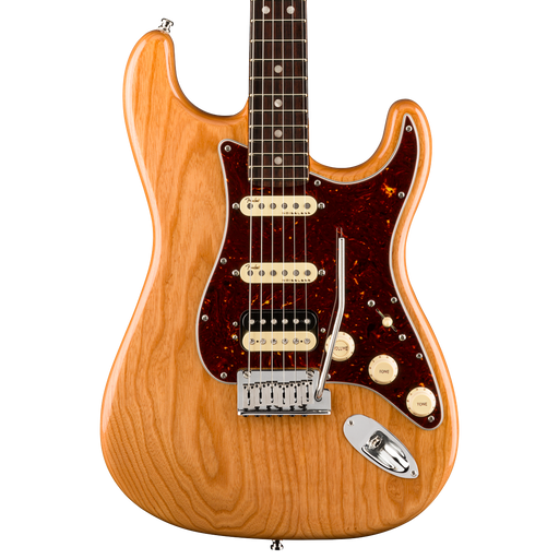 Fender American Ultra Stratocaster HSS Rosewood Fingerboard Aged Natural Electric Guitar With Case