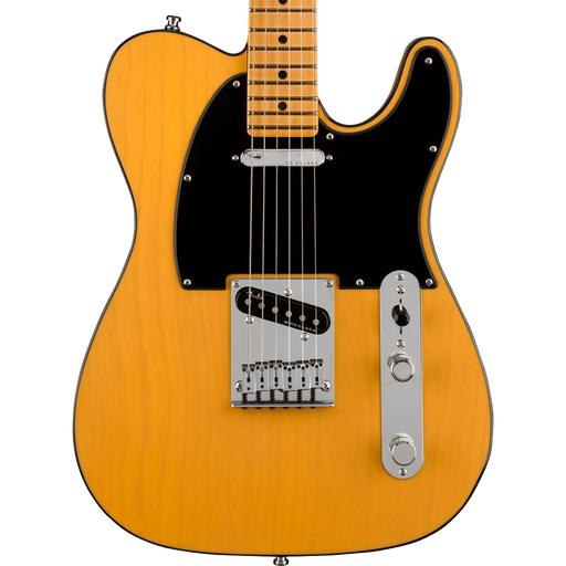 Fender American Ultra Telecaster Maple Fingerboard Butterscotch Blonde Electric Guitar With Case