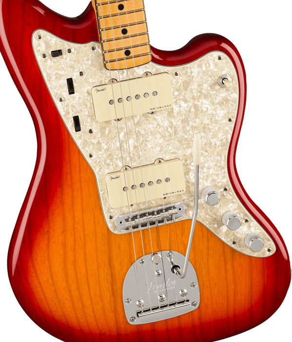 Fender American Ultra Jazzmaster Maple Fingerboard Plasma Red Burst Electric Guitar With Case